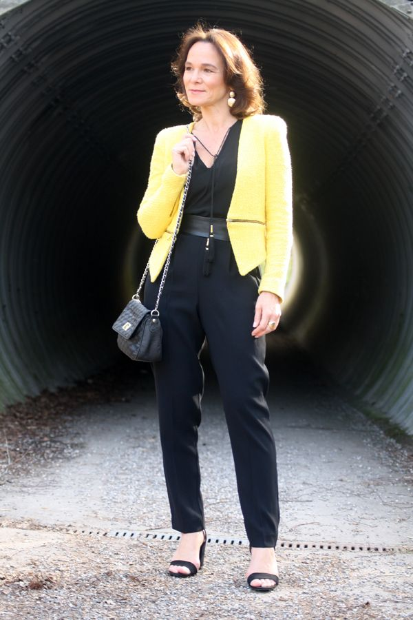 Black Jumpsuit & Yellow | Lady of Style