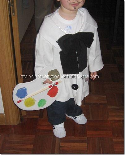 Disfraz casero  Disfraz de pintor para niños hecho en casa  9a00bc74bec