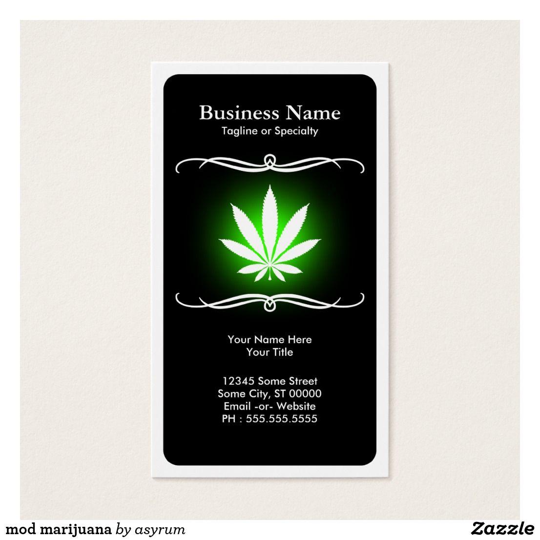 Mod marijuana business card | Business cards and Business