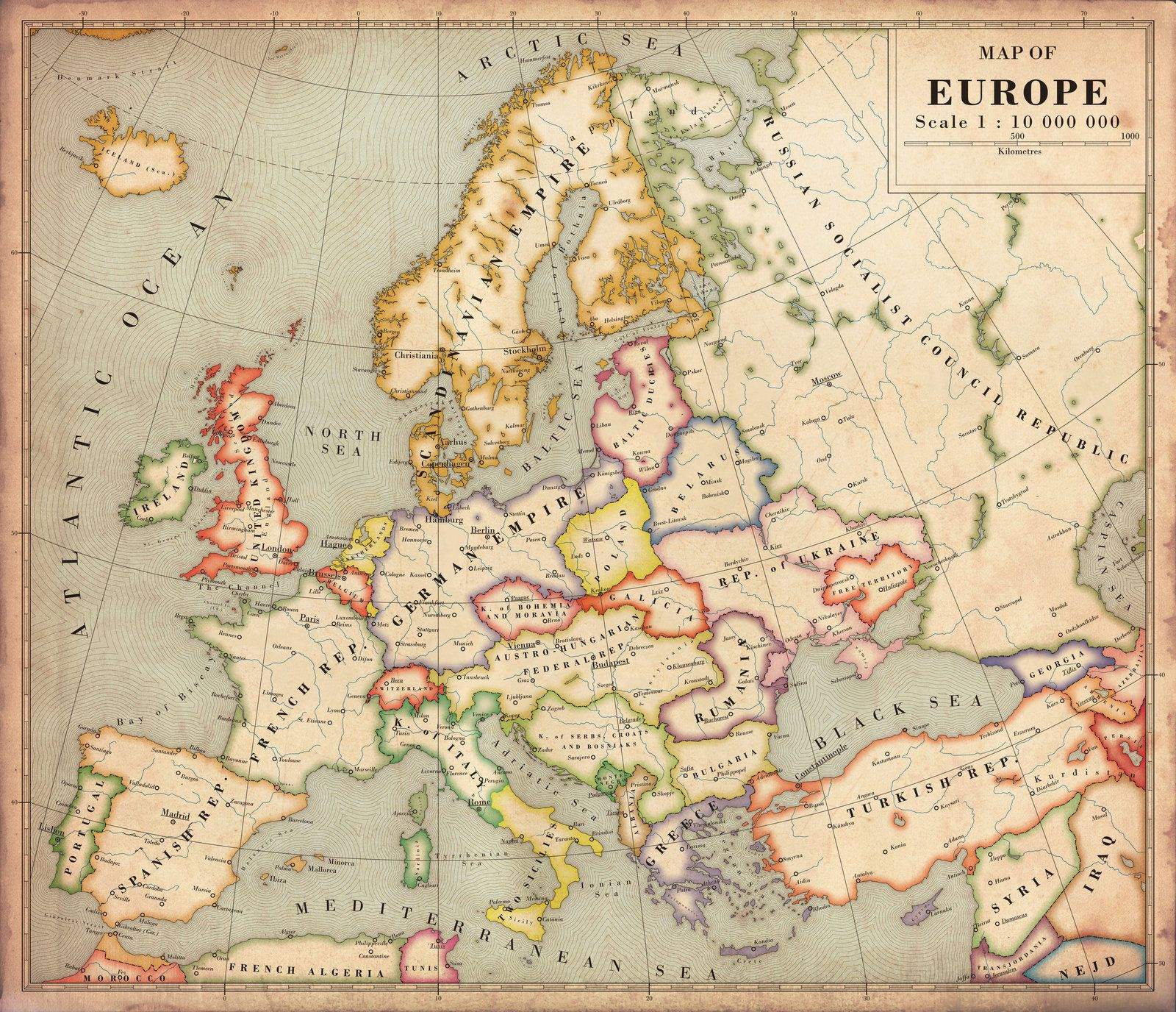 Alternate History Map Of Europe V By Regicollis On DeviantArt - Alternate history us map