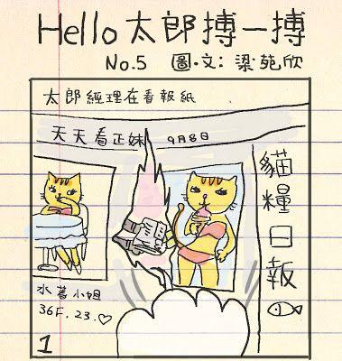 畢幸不幸轉轉轉: Hello太郎搏一搏(5)貓糧日報