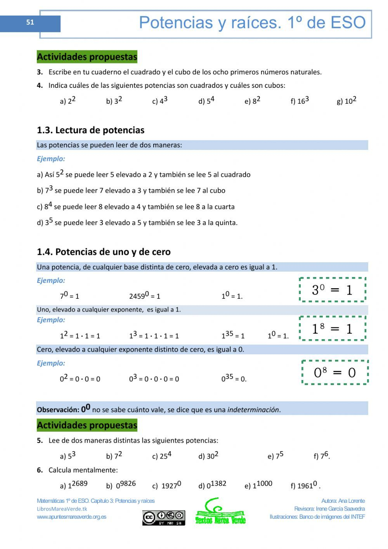 Apuntes Marea Verde Matematicas 1 Eso Mednifico Com
