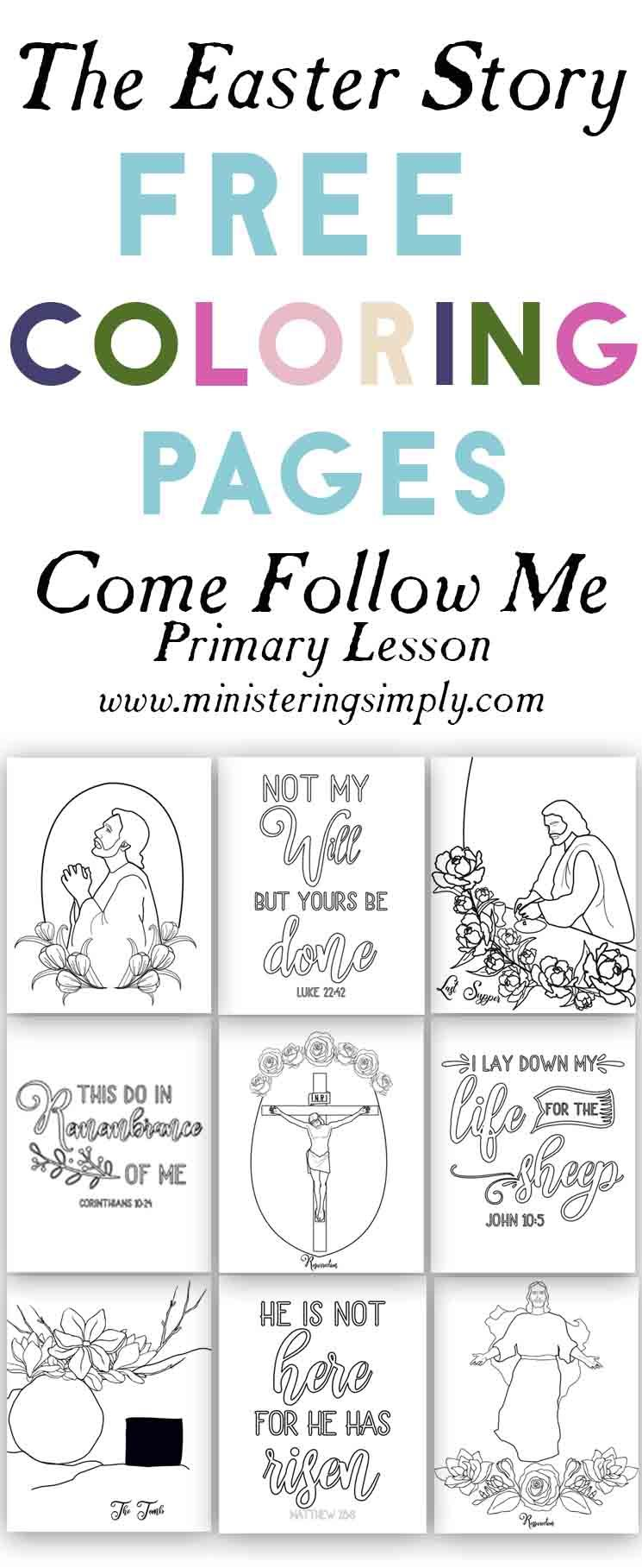 easter storycome follow me  ministering simply  easter