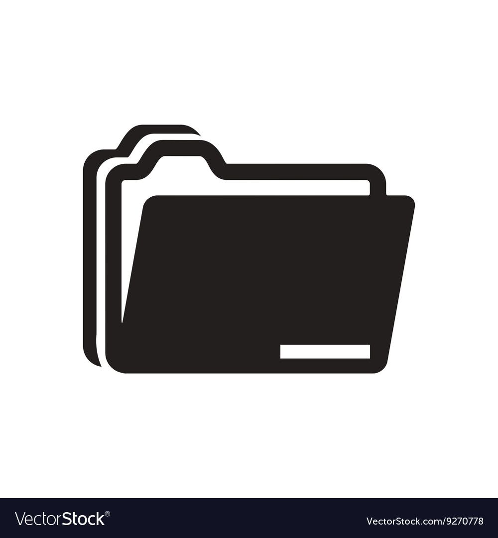 Flat Icon In Black And White Documents Folder Download A Free Preview Or High Quality Adobe Illustrator Ai Eps Pd Black And White Logos Icon Black And White