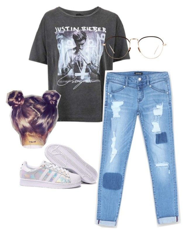 """""""Justin bieber 😍 #like4like #follow4follow"""" by loverofharrystyles ❤ liked on Polyvore featuring Topshop, Bebe, adidas, Linda Farrow and IWearPinkFor"""