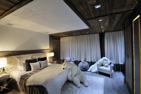 Weiße Bären Kuscheltiere Chalet-Gestaltung Design Brickell - ideen schlafzimmer einrichtung stil chalet