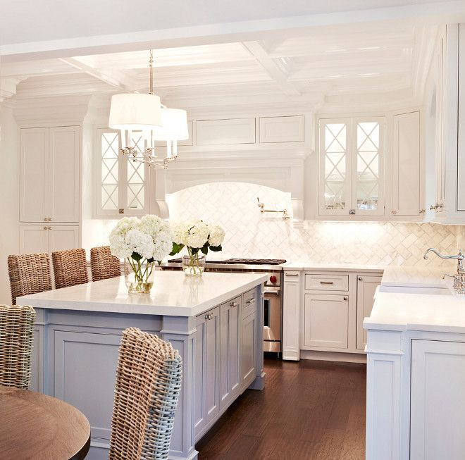 White Kitchen Cabinets With Gray Countertops: Chango & Co., Cabinet Paint Color Is Benjamin Moore