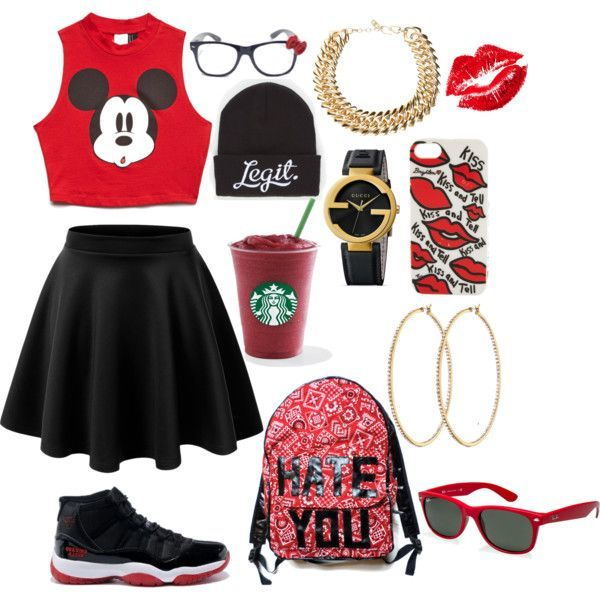 Bred 11s with a cute skater skirt. Outfits With JordansWomens Jordans ShoesCheap  ...