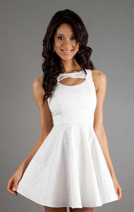 Simple Yet Elegant White Cocktail Dresses White Short Dress