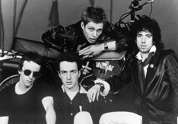 Punkrockband GrossbritannienTopper Headon Joe Strummer Paul Simonon und Mick Jones um 1980