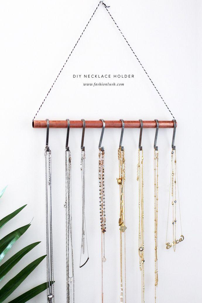 Diy Necklace Holder For The Minimalist Diy Necklace Holder