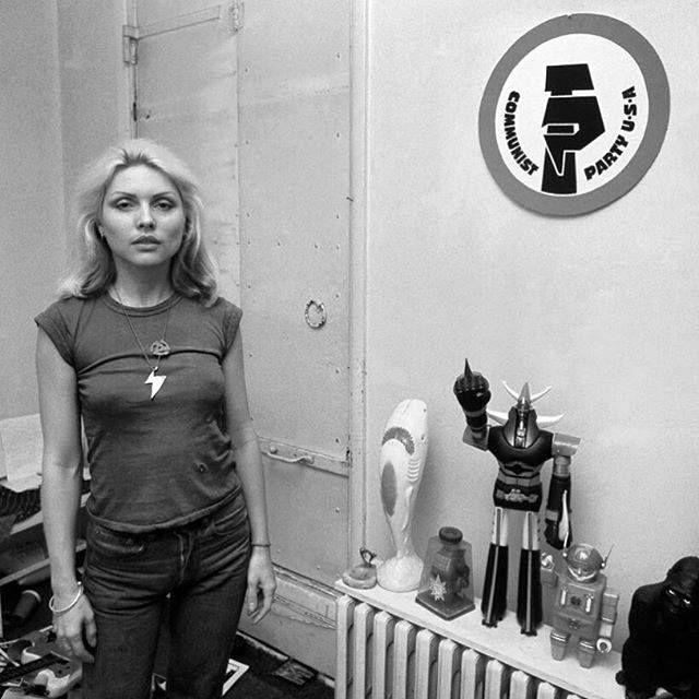 "forever-blondie: "" ""Debbie in the bowery loft c.'75 "" """