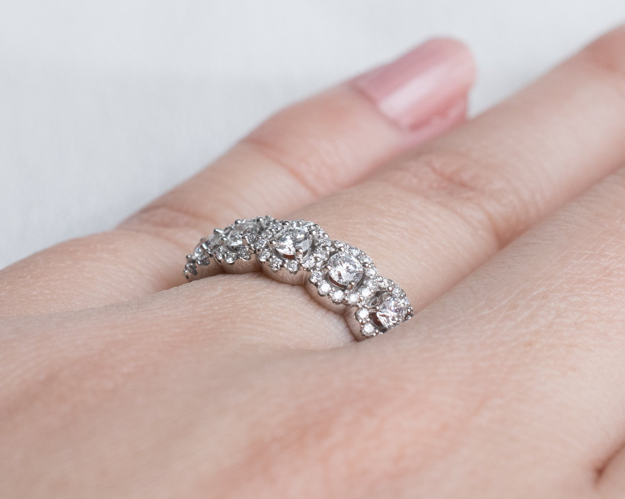 Halo Diamond Band | Products | Pinterest | Free shipping and Products