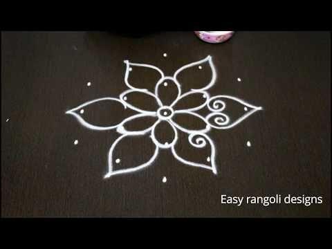 Daily Rangoli Simple Kolam 7 Dots Kolam Small Dot Rangoli