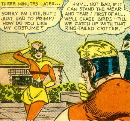 Joanie Swift -  was a college student working as a secretary at the university where Johnny Quick lived. She was transcribing assignments for her professor when she was typing the formula that gave Johnny Quick his speed. Muttering it to herself, she found herself able to run at fast speeds.