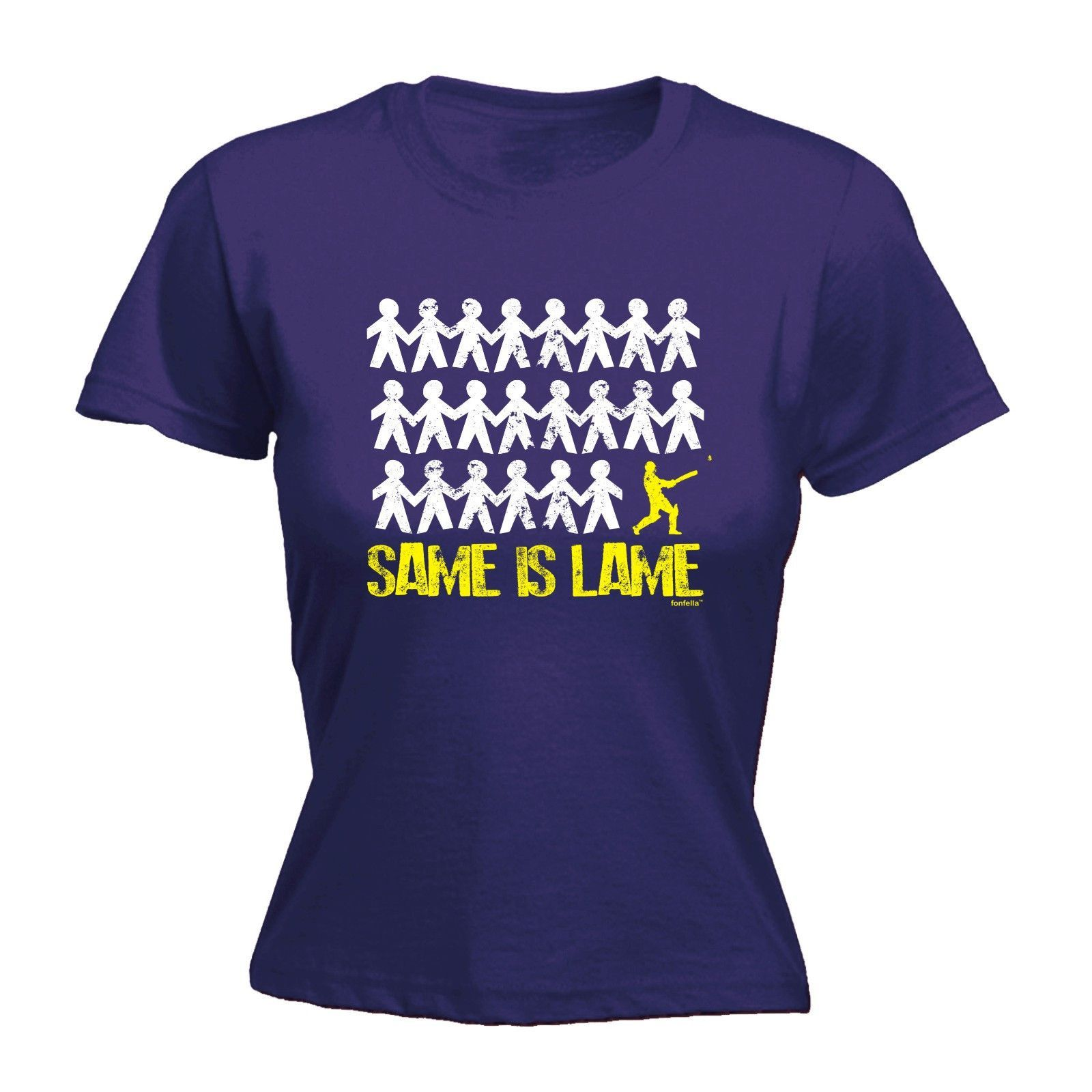 123t USA Women's Same Is Lame Cricket Funny T-Shirt