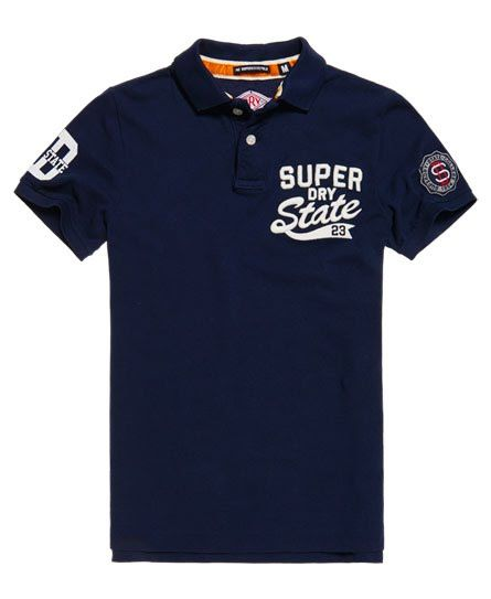 9d7526e1 Superdry Super State Pique Polo Shirt Navy | polo tshirt in 2019 ...