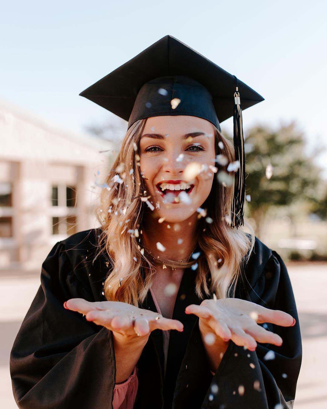 Ideas para fotos de graduación creativas
