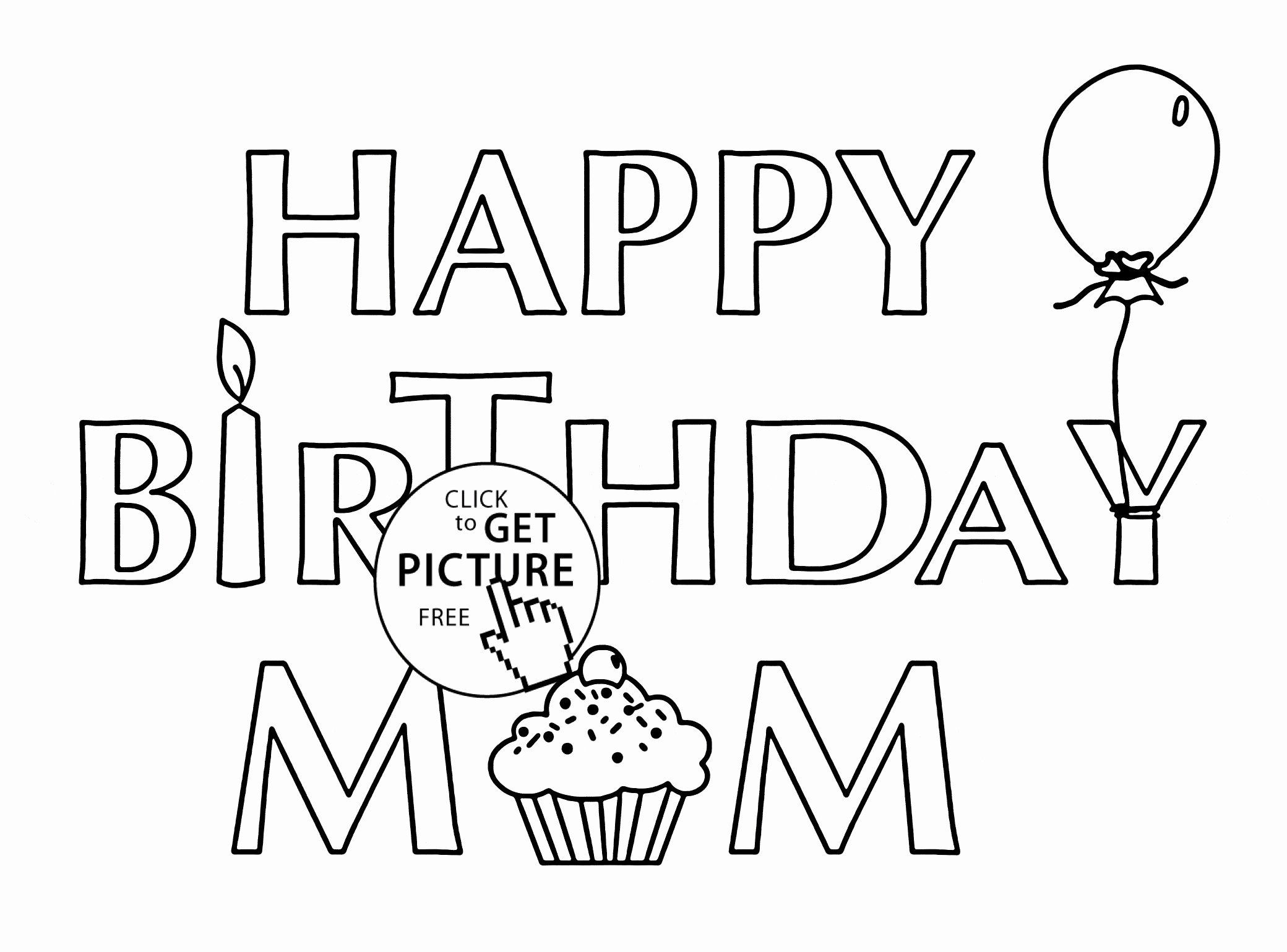 Happy Birthday Coloring Card New Coloring Pages 47 ...