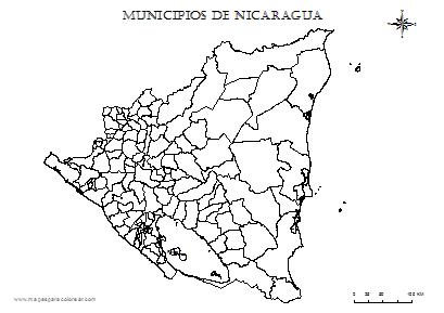Mapas De Nicaragua Para Colorear Mapas Mapa Para Colorear Colores