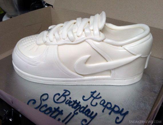 Nike Air Force 1 Low White Birthday Cake | White birthday