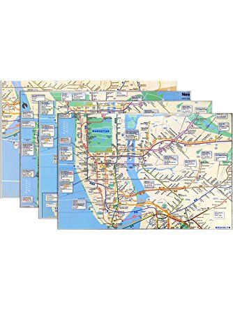 Nyc Subway Map Zippered Wallet.Real Map Placemat 4 Pack Nyc Subway Line Not Your Grandma S