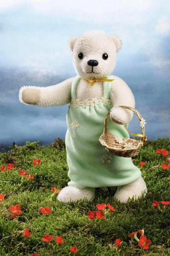 """""""Anuschka"""" Mohair Flower Girl Teddy Bear 2017 Collection"""
