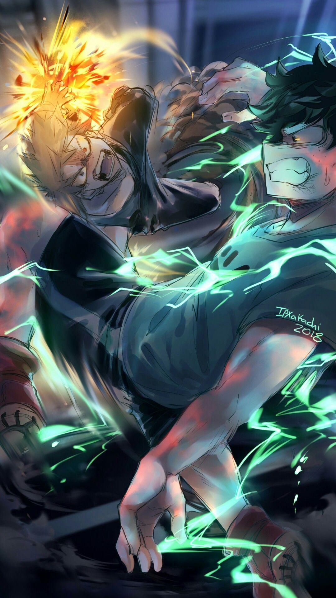 Bakugou and Midoriya My hero academia My héros