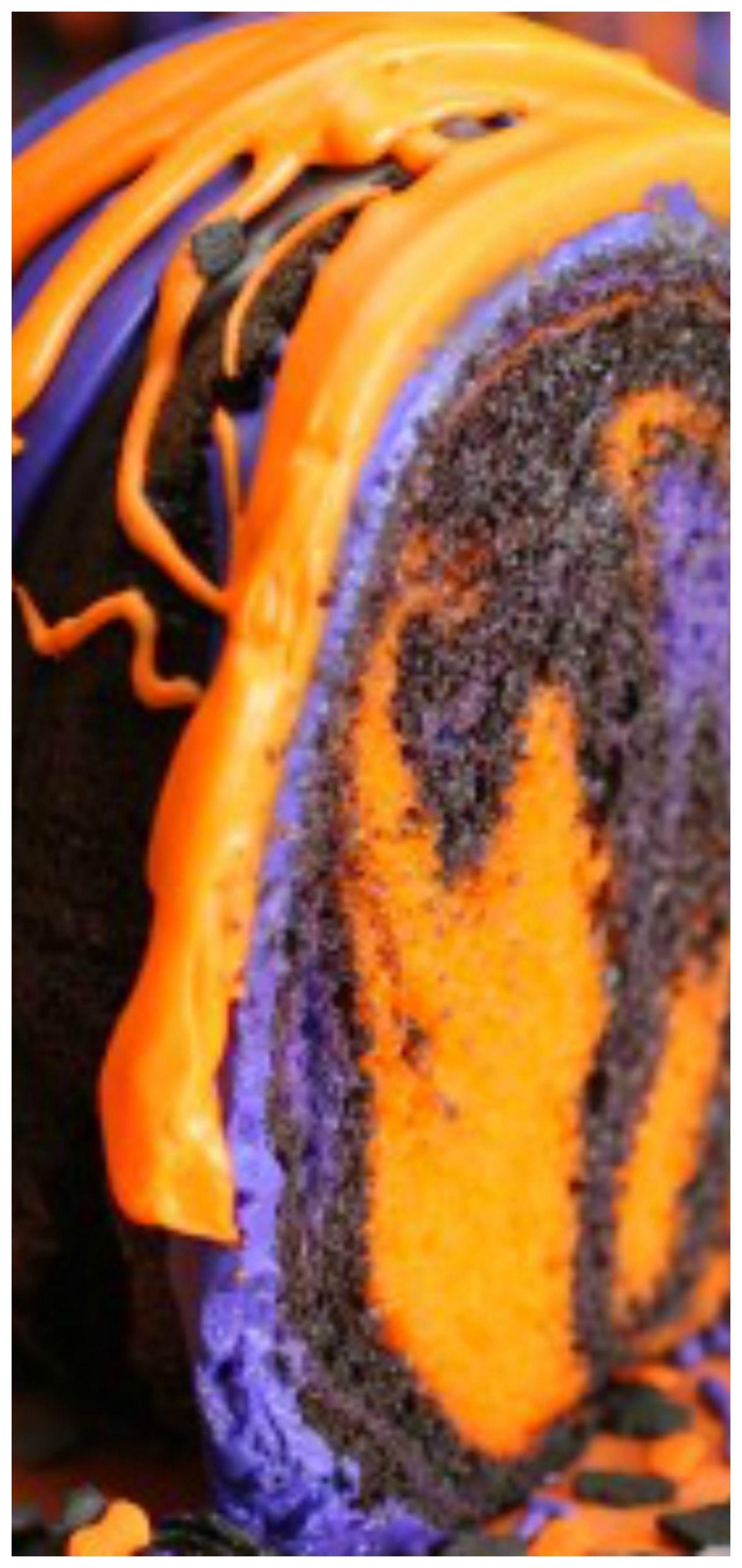 Amazing Halloween Rainbow Party Bundt Cake Easy And Simple To Make Orange Purple Black And Chocolate All Bundt Cakes Recipes Easy Bundt Cake Bundt Cake