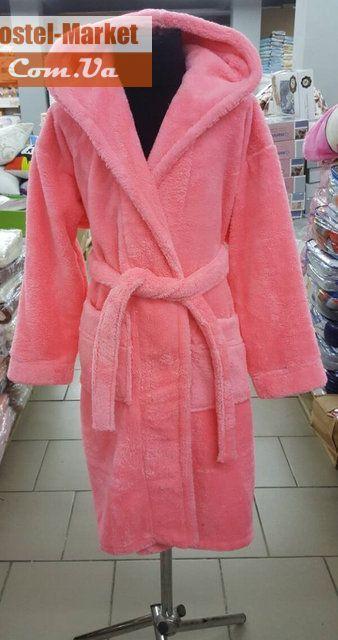2b3724592512 Махровый халат для подростков Zeron розовый. Купить Махровый халат для  подростков Zeron розовый в интернет