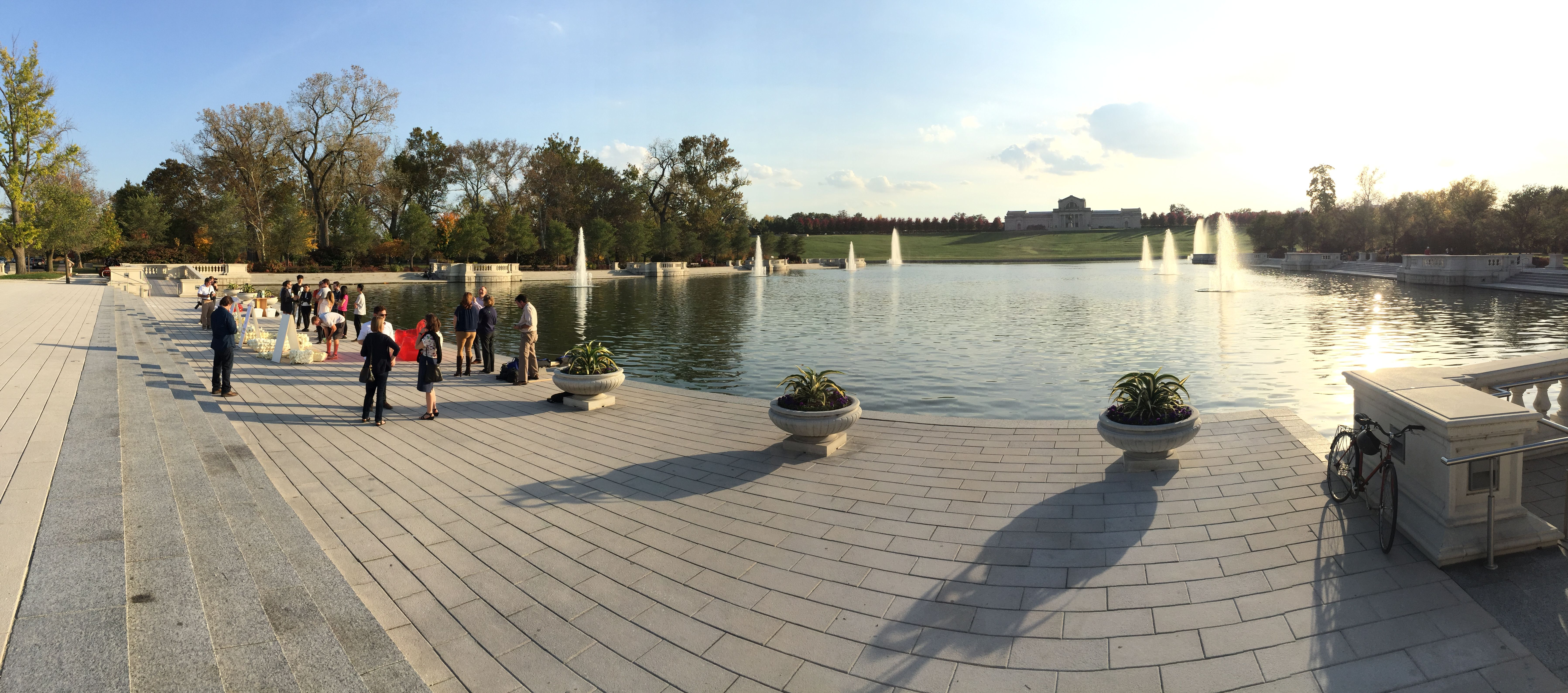 Beautiful Forest Park - St. Louis backdrop for Wash U event.  #FoamFloats