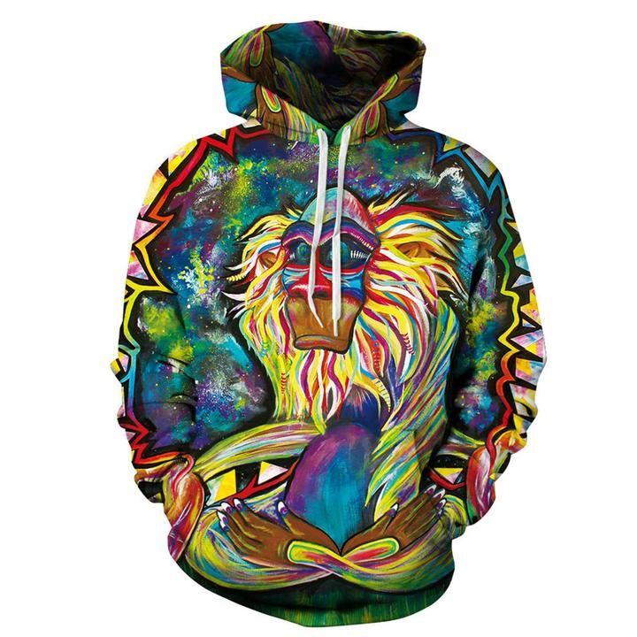 Buy Graffiti Wizard Printed Big Pockets Drawstring Hoodie Sweatshirts at  Wish - Shopping Made Fun