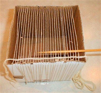 cardboard box loom   DIY   Pinterest   Cardboard boxes, Box and Craft
