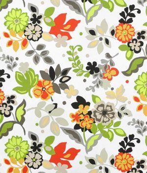 Premier Prints Blooms Chili Pepper Slub Fabric 8 45