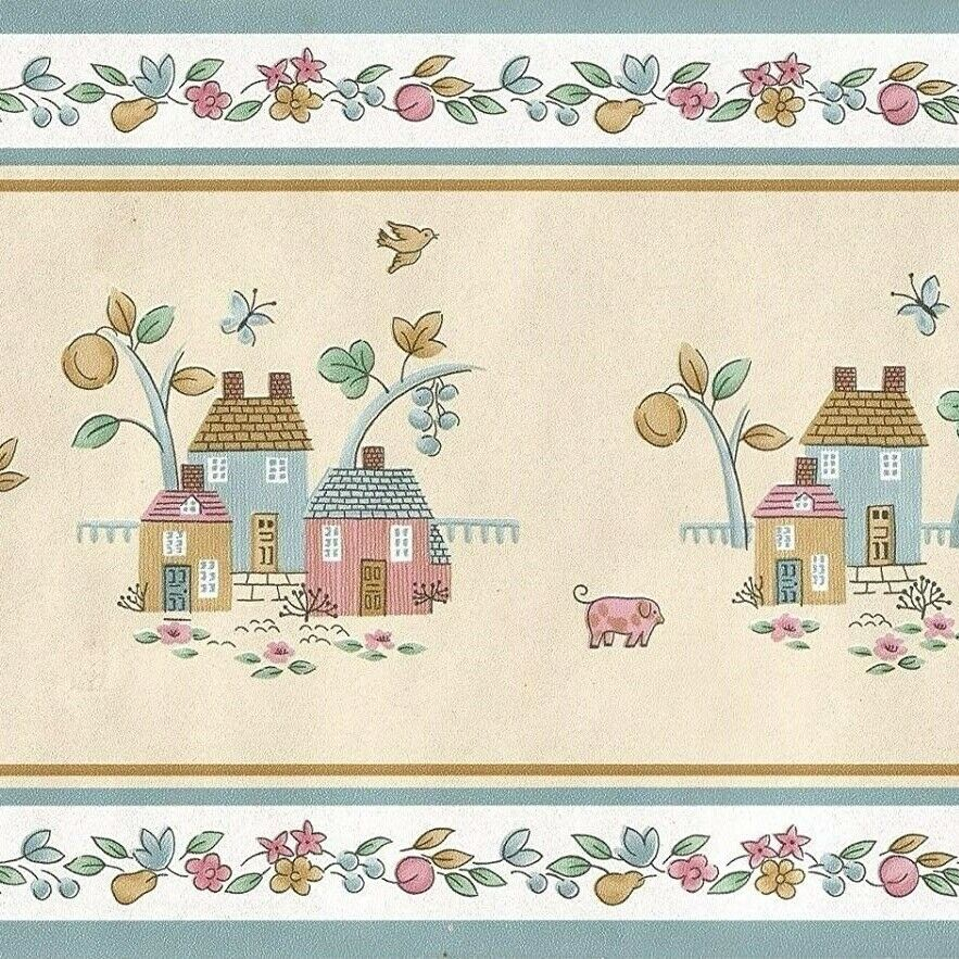 International Heartland Wallpaper Border Country Farmhouse