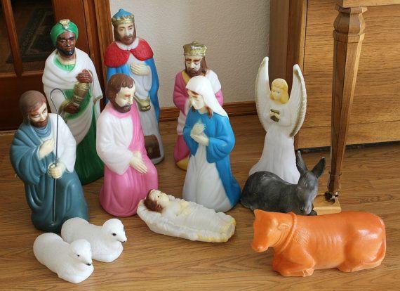 Vintage Empire Nativity Set Outdoor Light Up Nativity Set