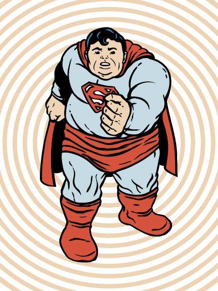 Steve Seeley C2E2 Fat Super Heroes Print Exclusives