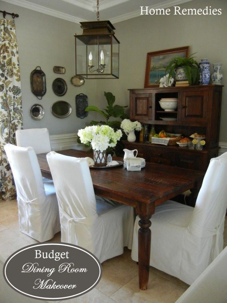 Farmhouse Dining Room Makeover Wall Color Top Of Bedford Gray Martha Stewart Trim Dove White BM Diningroomdecorating