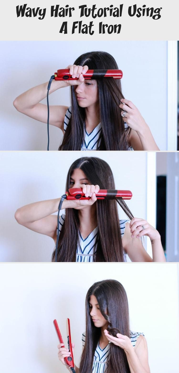 Wavy Hair Tutorial Using A Flat Iron - Hairstyle #flatironwaves