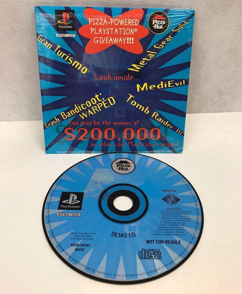 Playstation Pizza Hut Sampler Demo Disc 1998 | Games