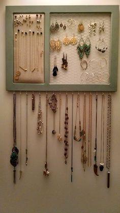 DIY Jewelry Organizer « House Full of Pretty