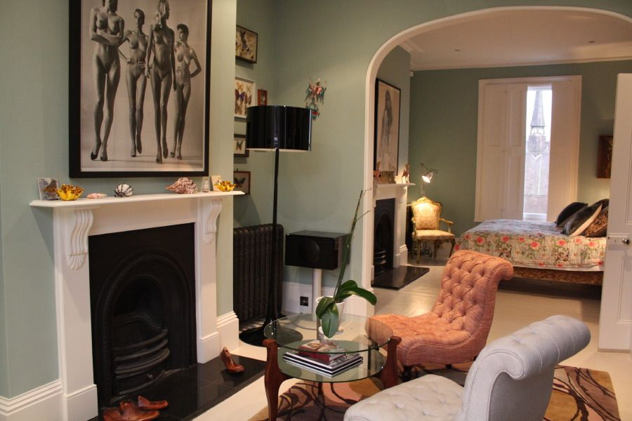 A striking victorian terraced house finished with stylish for Bedroom ideas victorian terrace