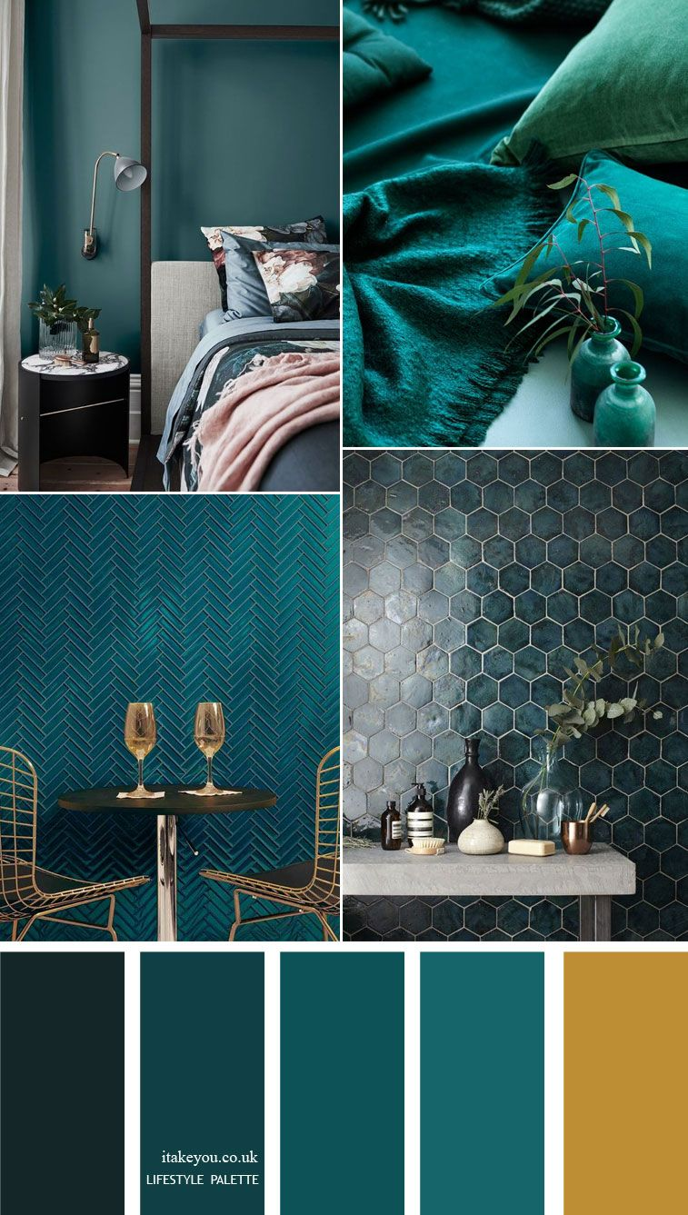Teal color home decor Idea – Home color palette #autumncolorpalette