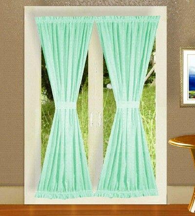 Mint Green French Door Curtains French Door Curtains Door