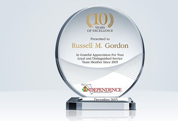 Circle Service Recognition Plaques Corporate Awards