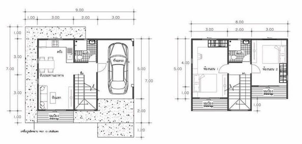House Plans Idea 8x7 With 2 Bedrooms Sam House Plans House Plans Home Design Plan How To Plan