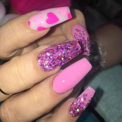 31 Cute Valentine S Day Nails For 2019 Favnailart Com Pretty Acrylic Nails Nail Designs Valentines Cute Acrylic Nails