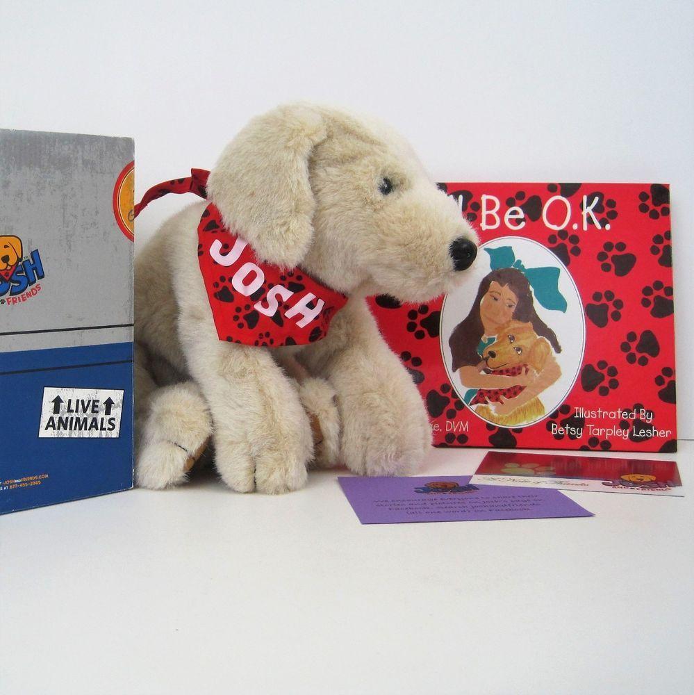 Set Of Dog Stuffed Animals, Josh And Friends Plush Dog W Book Gift Set Sick Child Childrens Hospital New Sick Kids Plush Dog Christmas Plush