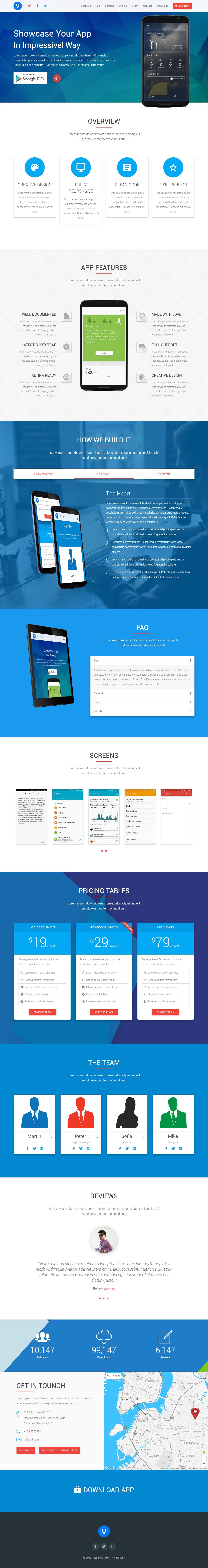 Volcan is premium full responsive retina html5 app showcase template pronofoot35fo Gallery