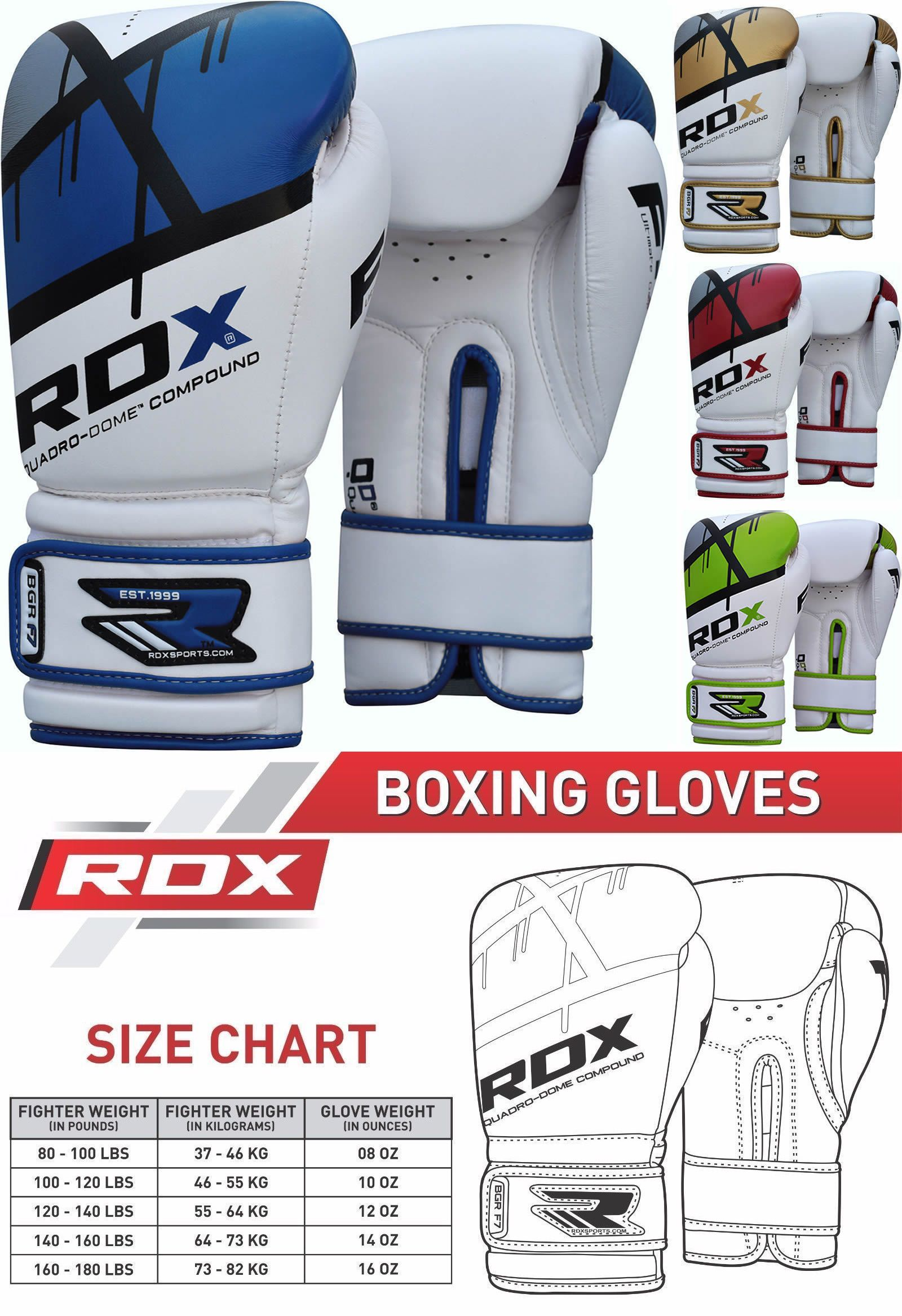 Gloves - Martial Arts 97042: Rdx Boxing Sparring Gloves Leather Punching Bag Training Muay Thai Fight Mma F7 -> BUY IT NOW ONLY: $43.49 on eBay!